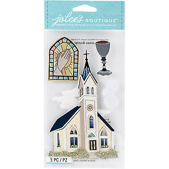 Jolee's Boutique Dimensional Stickers-Catholic Church