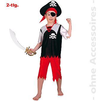 Pirat Meeresbandit Kostüm Kids Seefahrer Kinder Seeräuber Kinderkostüm