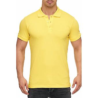 Tazzio fashion men's polo shirt yellow basic