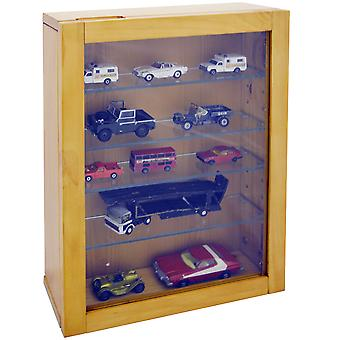 Collection - Wall Display Cabinet With 4 Glass Shelves - Natural