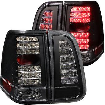 Anzo USA 311097 Lincoln Navigator 4 Pcs Black LED Tail Light Assembly - (Sold in Pairs)