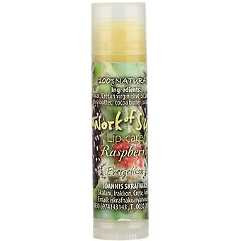 Cretan beeswax lip care stick Raspberry Evergetikon 6ml.