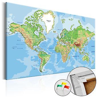 Billede på cork - verden geografi [Cork kort]