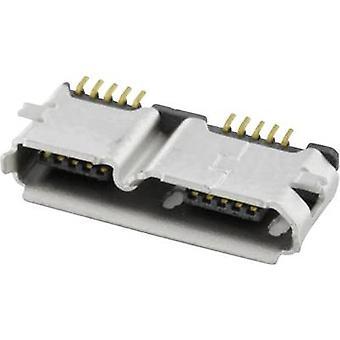 Monterade uttaget Micro USB 3.0 uttag, horisontella mount MICUB10BBS 2 portar econ ansluta innehåll: 1 dator