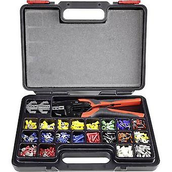 Crimper set 439-piece Cable lugs, Blade terminals, Blade terminal receptacles, Butt connectors, Ferrules 0.5 up to 16 mm² TOOLCRAFT 1365635