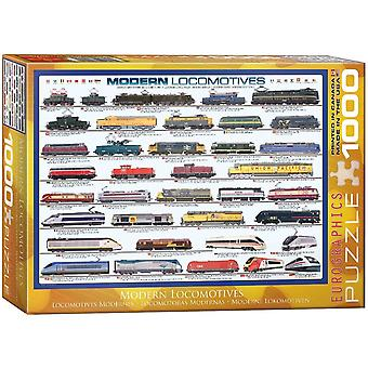 Modern Locomotives 1000 Piece Jigsaw Puzzle 680Mm X 490Mm