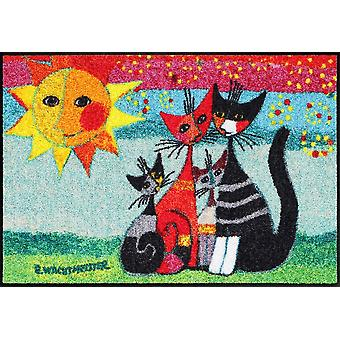 Rosina Wachtmeister Momenti matta 50 x 75 cm salong lejon katt motiv golvmattor
