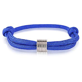 Skipper bracelet surfeur bande marque nœuds bracelet bleu avec pendentifs argent de 7367
