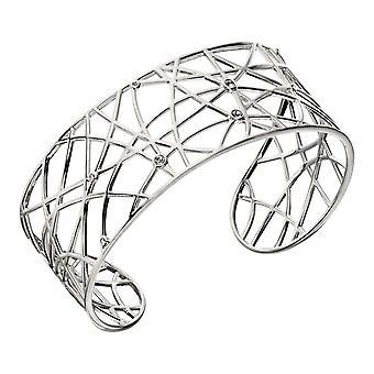 Delar Silver öppna arbete Bangle - Silver/klar