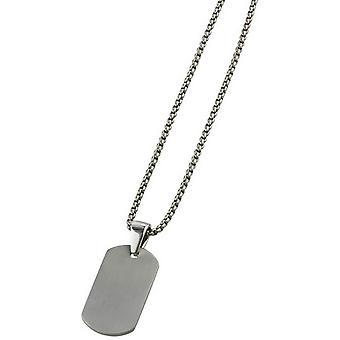Ti2 Titanium Dog Tag Pendant - Silver
