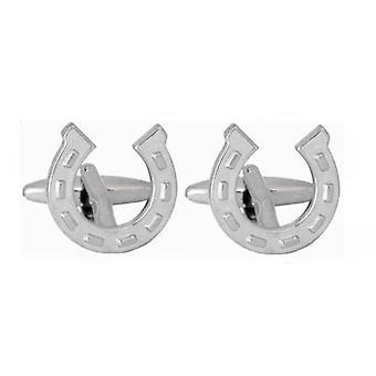 David Van Hagen Horse Shoe gemelli - argento