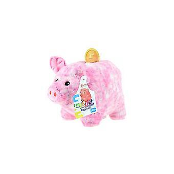 Plush piggy bank pig pink
