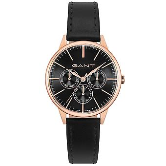 GANT ladies watch with genuine leather strap Rosé Gold