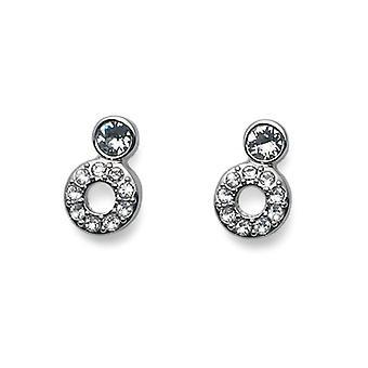 Oliver Weber Post Earring ABove Rhodium Crystal