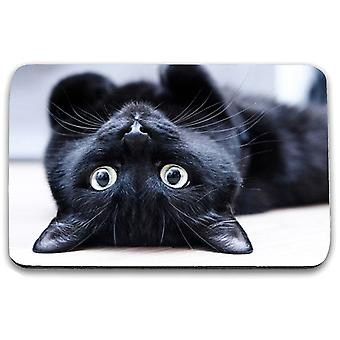 i-Tronixs - Cat Printed Design Non-Slip Rectangular Mouse Mat for Office / Home / Gaming - 12