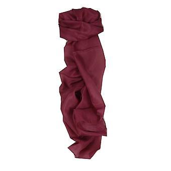 Maulbeer Seide Hand gefärbt Pflaume langer Schal aus Pashmina & Seide