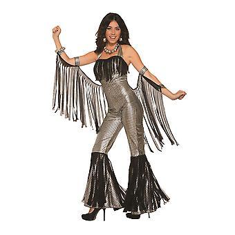 Disco Queen Jumpsuit Silver