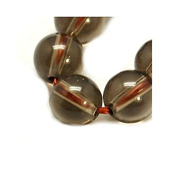 Strand 20+ Brown Smoky Quartz 8mm Plain Round Beads Y08035