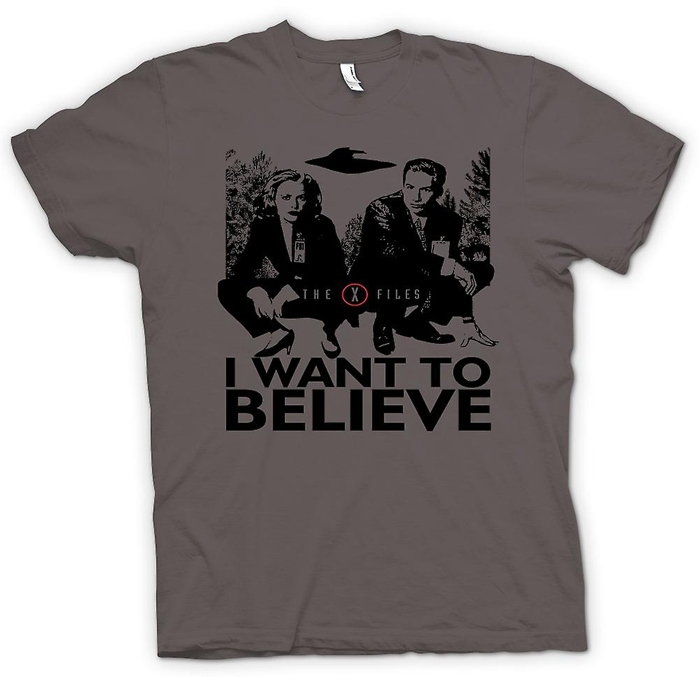 Mens T-shirt-X Files, je veux croire - UFO