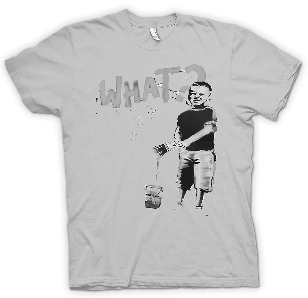 Mens T-shirt - Banksy Graffiti kunst - wat