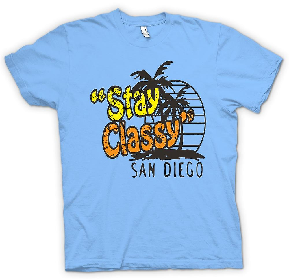 Mens T-shirt - Stay Classy San Diego - Funny