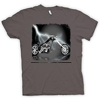 تي شيرت رجالي-خنزير راكب الدراجة النارية المروحية