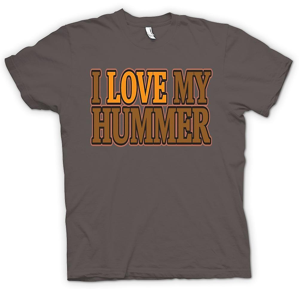 Womens T-shirt - I Love My Hummer - Car Enthusiast