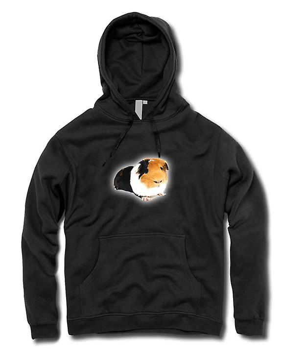 Mens Hoodie - Guinea Pig Brown And White