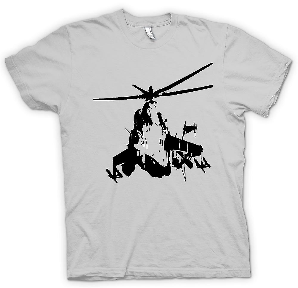 Mens T-shirt - MI-24 HIND Attack Helicopter