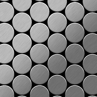 Металлическая мозаика из нержавеющей стали ALLOY Medallion-S-S-B