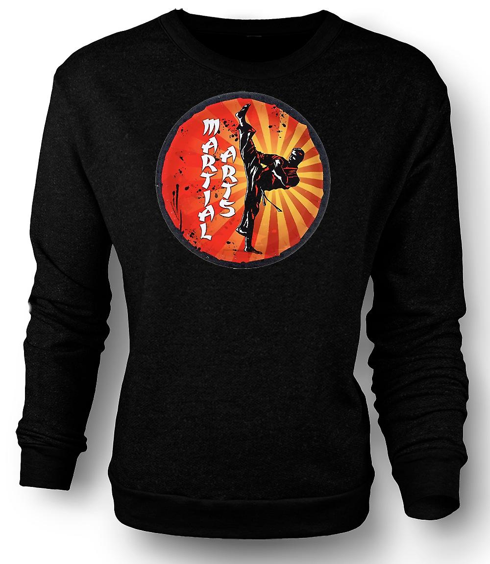 Mens-Sweatshirt-Martial-Arts - Pop Art-Design