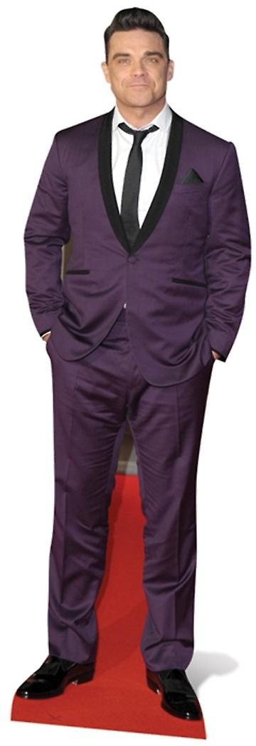 Robbie Williams Lifesize Cardboard Cutout / Standee - Purple Suit Style