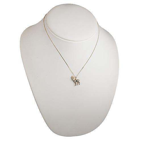 9ct Gold 22x17mm Antelope Pendant with a curb Chain 18 inches
