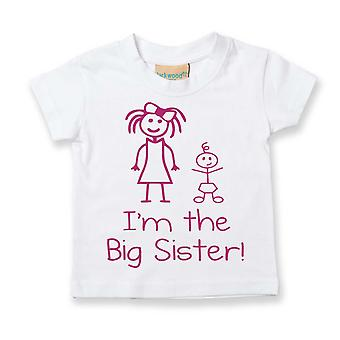 I'm The Big Sister White Tshirt