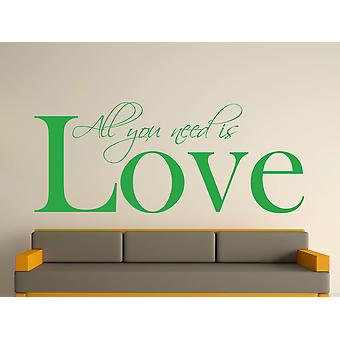 All You Need Wall Sticker Art - Vert