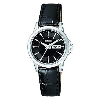 Citizen men-leather quartz wrist watch EQ0601-03EE