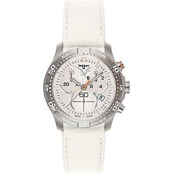 Traser H3 Ladytime silver chronograph ladies watch T7392. V5H. G1A. 08-100368