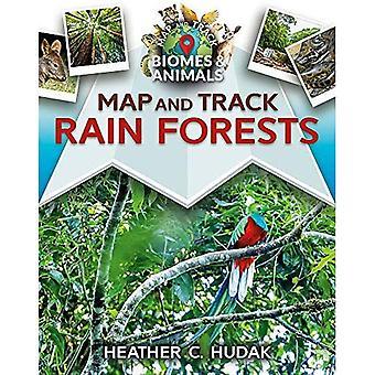 Karte und Strecke-Regenwälder (Karte und Track Biome und Tiere)