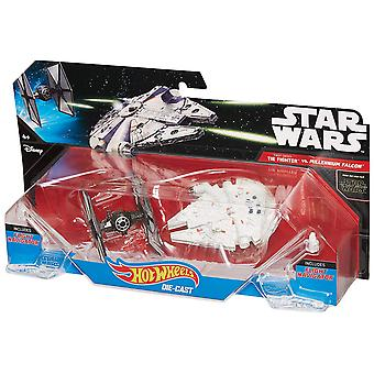 Hot Wheels Star Wars: TIE Fighter vs. Millennium Falcon 2-Pack