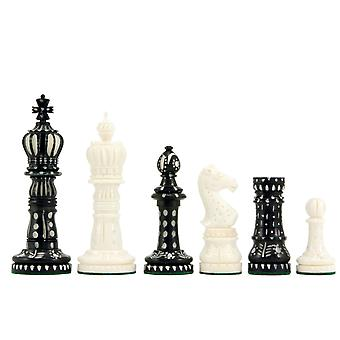 Kings Cross Carved Camel Bone Chess Pieces