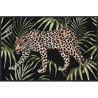 Salonloewe Fußmatte Dschungelleopard 50 x 75 cm waschbar Schmutzmatte