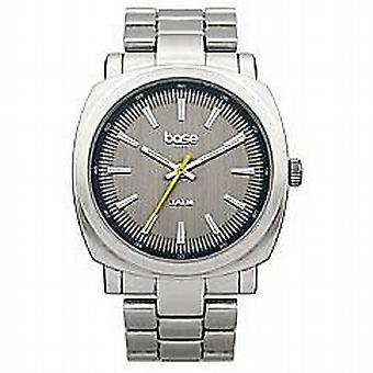 Base London Gents sølv Dial & sølv Tone Metal armbånd læderrem Watch DQ97.00BL