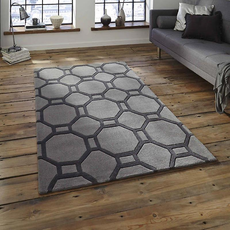 Rugs - Hong Kong Grid - HK4338 Grey