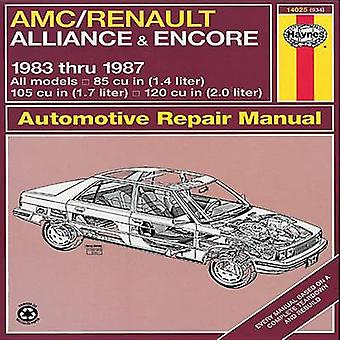 A. M. C./Renault Alliance and Encore 1983-87 85cu.in.(1.4 Litre) - 10