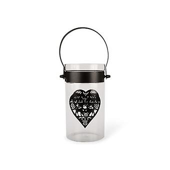 The Lantern Glass with heart Lamp
