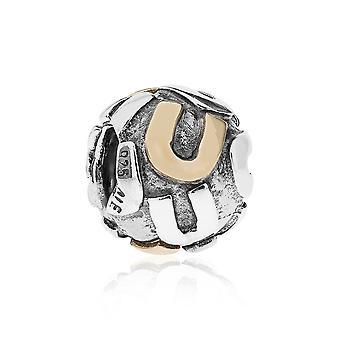 Pandora Letter U Silver & 14k Gold Charm 790298U