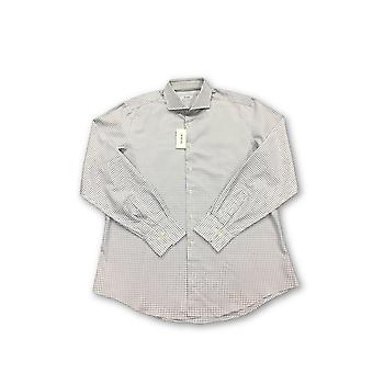 Pal Zileri shirt in white and grey check