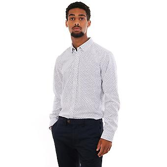 Ted Baker Mens Micheal Ls Small Floral Geo Shirt