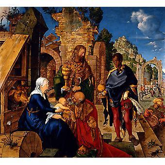 Tilbedelse af magi, Albrecht durer, 50x46cm