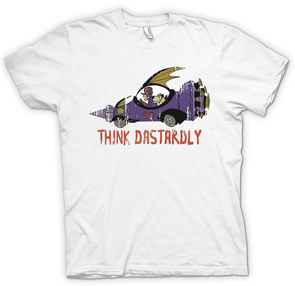 Mens T-shirt - Think Dastardly - Funny
